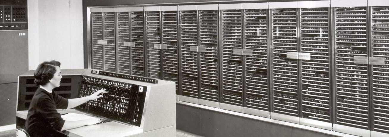 The world's most powerful computer (1954) at Columbia University's Watson Lab.